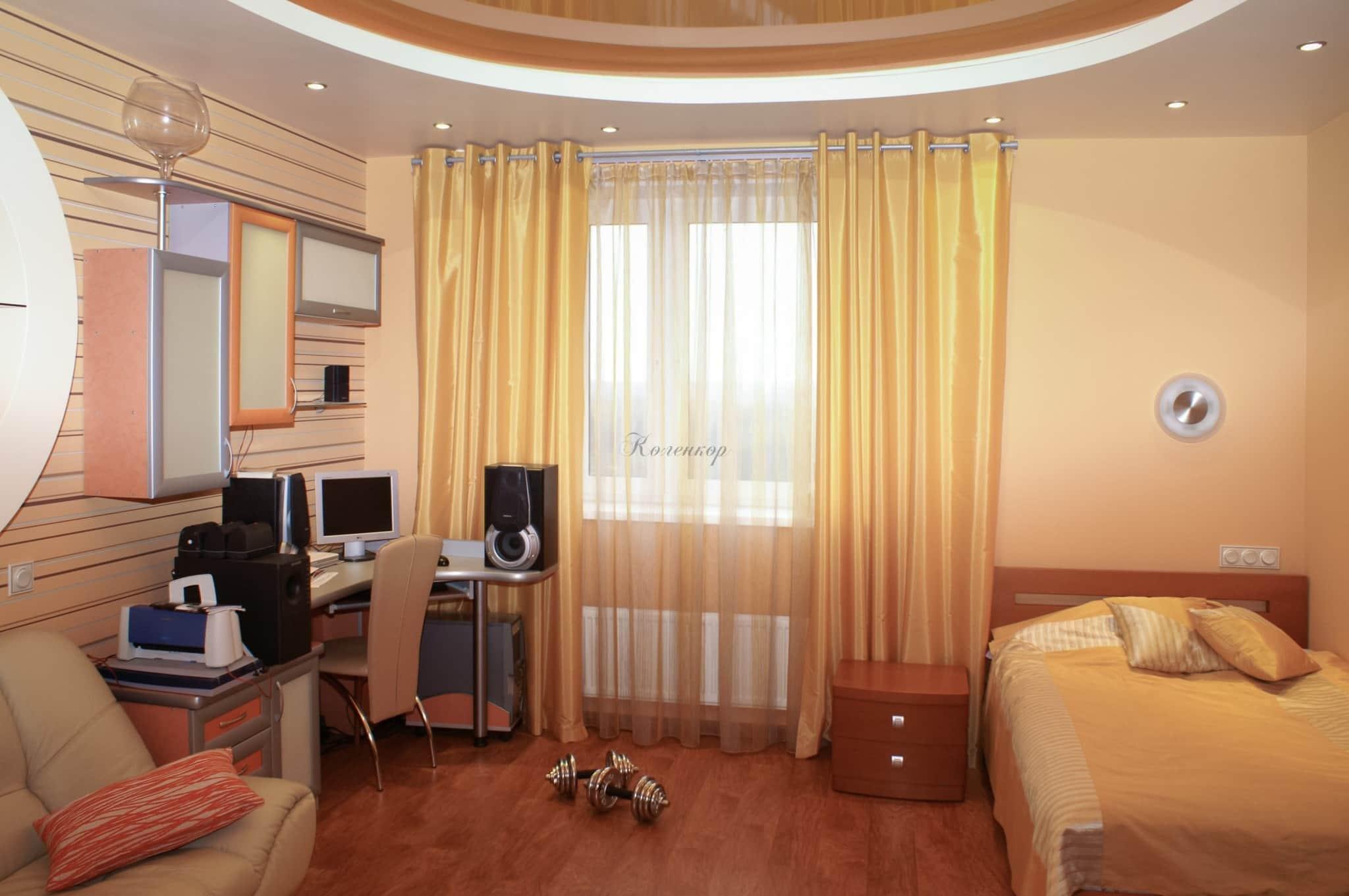 Желтые шторы фото наших работ 2