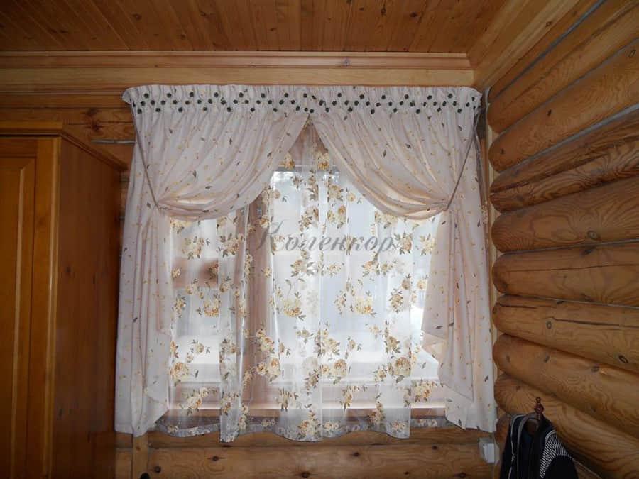 Фото занавесок в дачном доме реальность