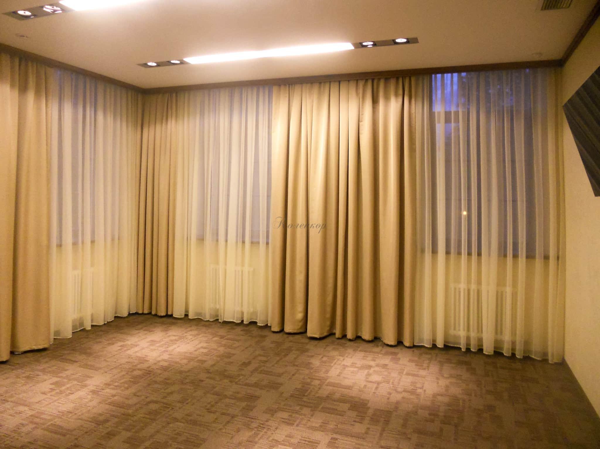 Желтые шторы фото наших работ 1