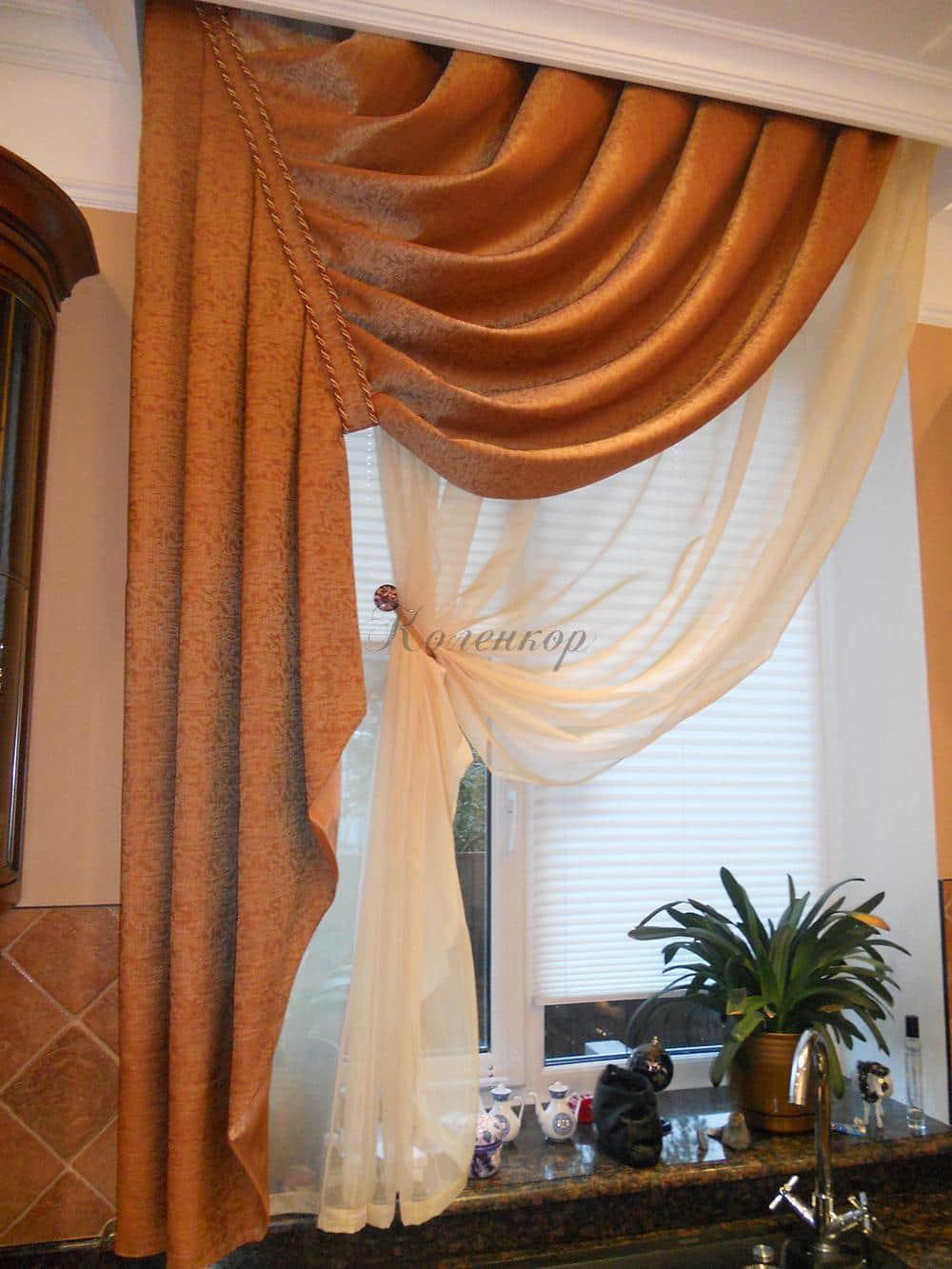 Классические итальянские шторы в интерьере