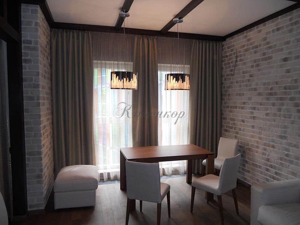 Итальянские шторы для гостиной в современном стиле