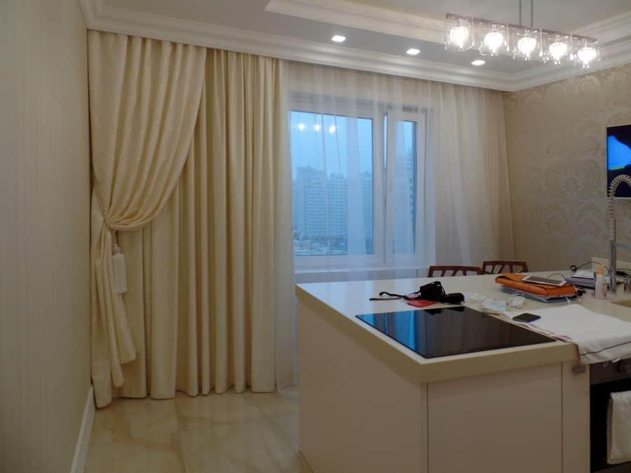 Фото штор 17: кухня