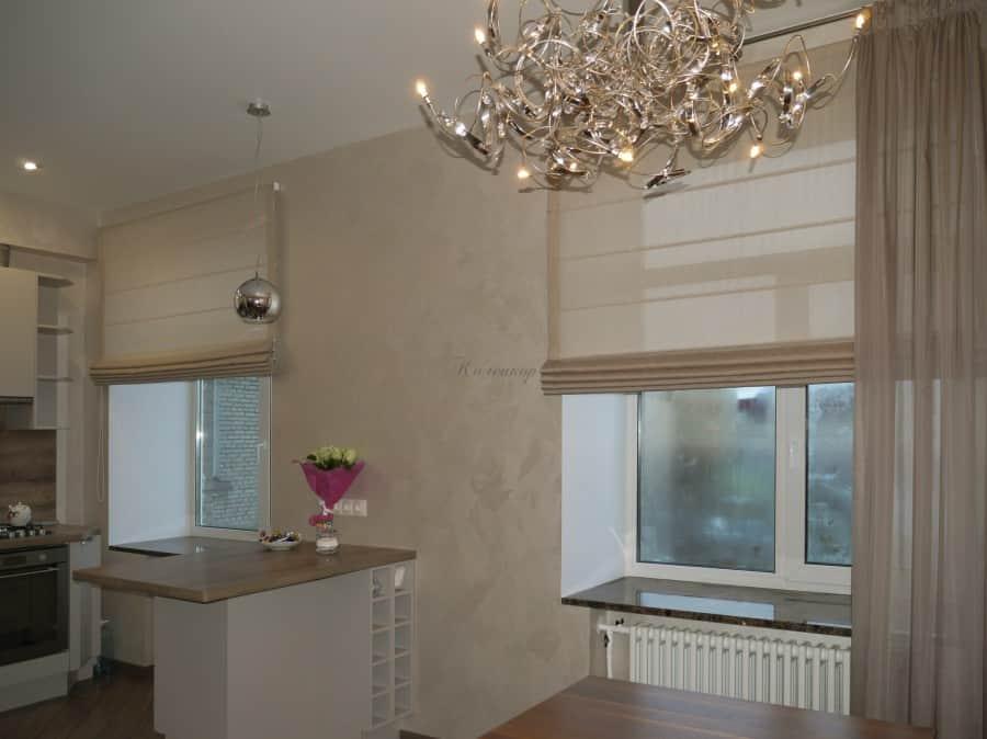 Фото штор 19: кухня