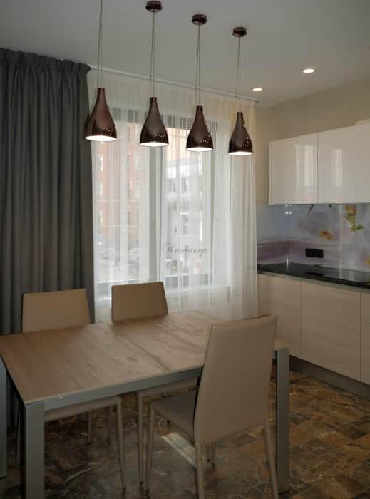 Фото штор 28: кухня