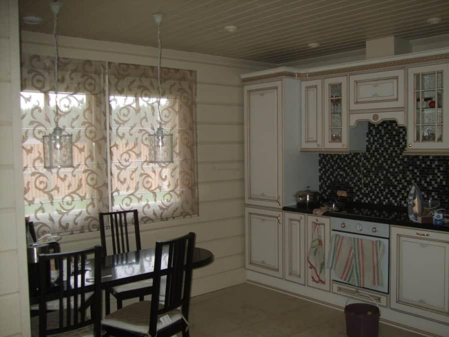 Фото штор 31: кухня