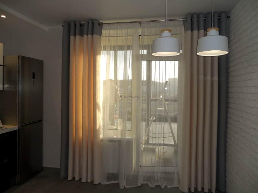 Фото штор 42: кухня