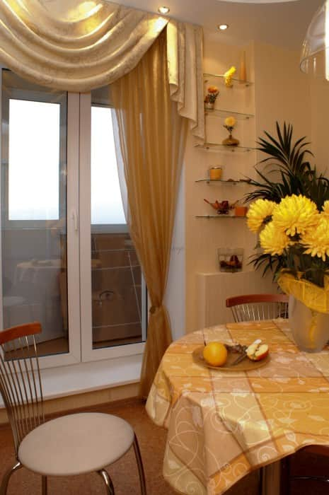 Фото штор 45: кухня