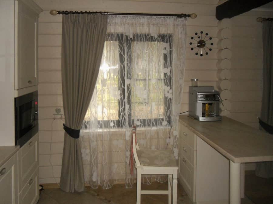 Фото штор 48: кухня