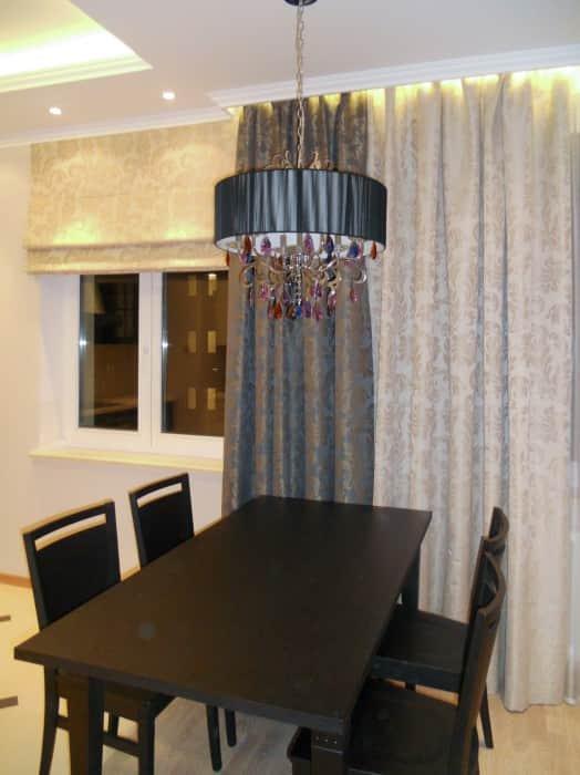 Фото штор 8: кухня