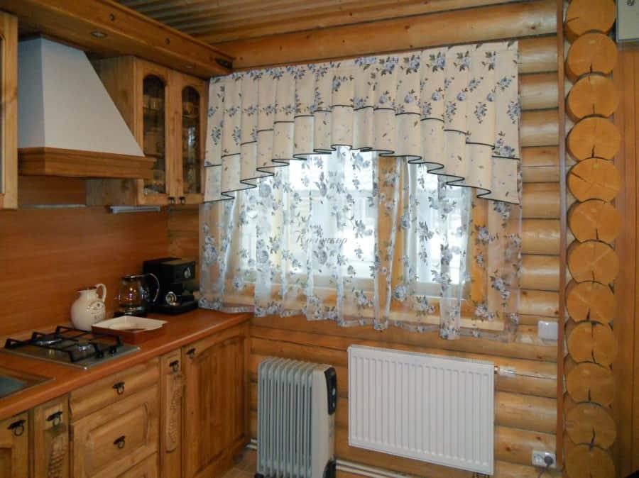 Фото штор 9: кухня