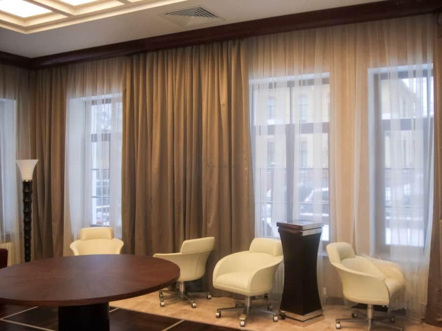 Фото штор 46: кабинеты, офисы, переговорные