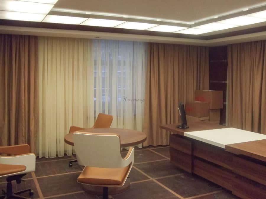 Фото штор 51: кабинеты, офисы, переговорные