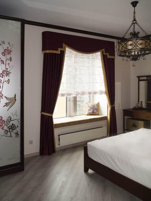 Фото штор 16: спальня
