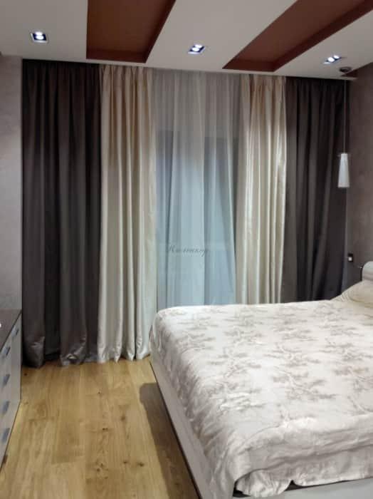 Фото штор 23: спальня