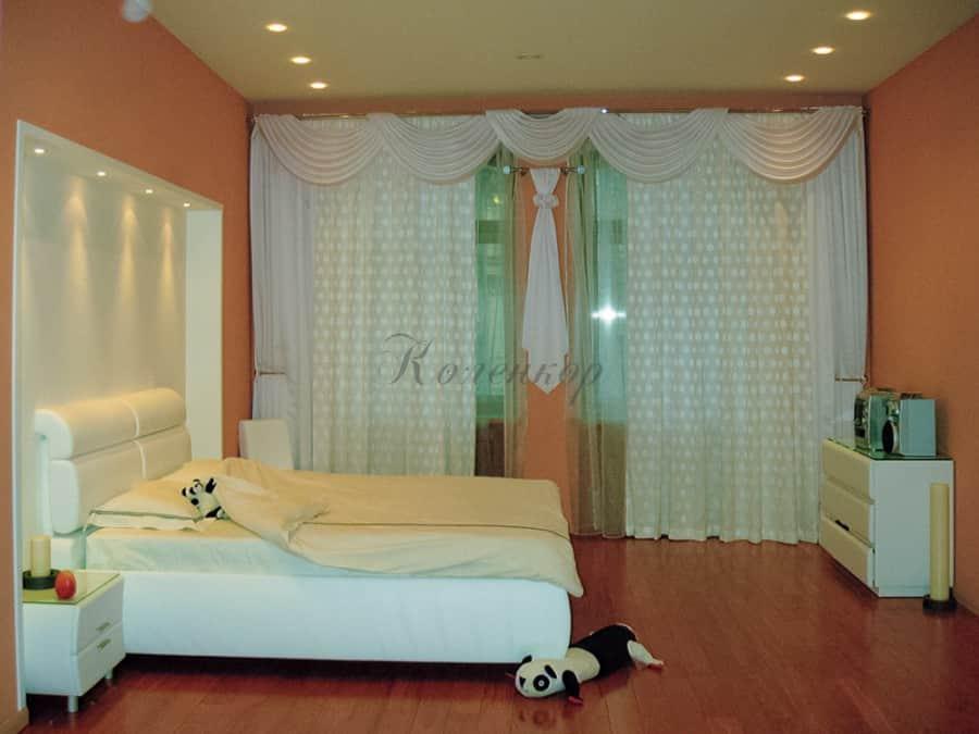 Фото штор 29: спальня
