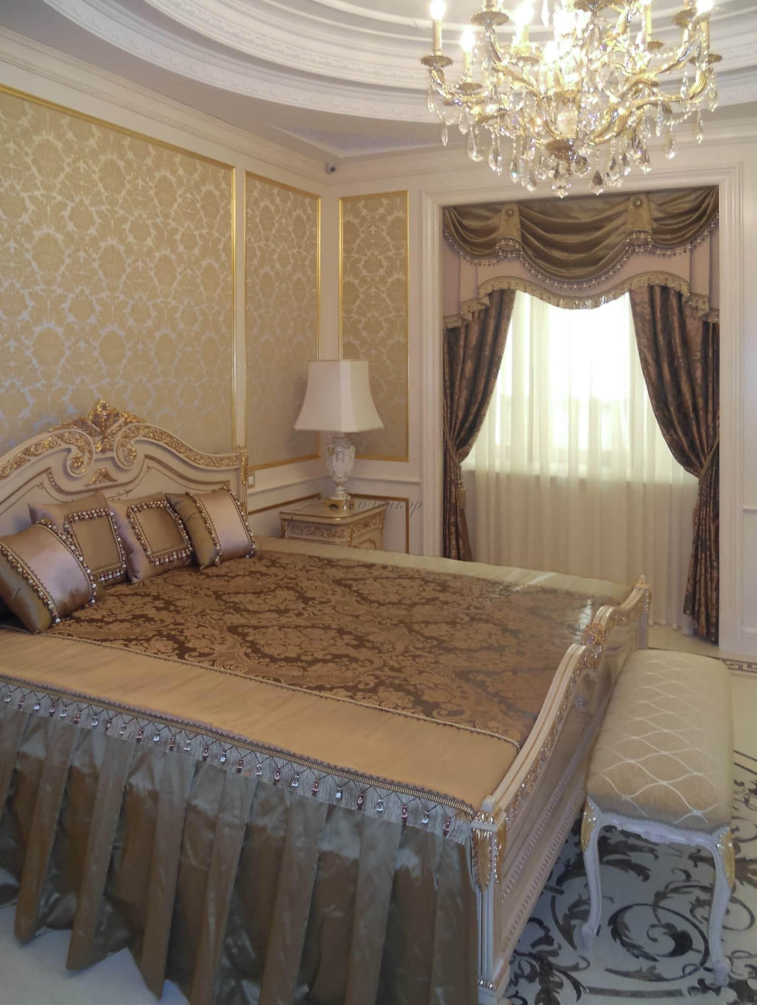 Готовый комплект штор и покрывала на кровать