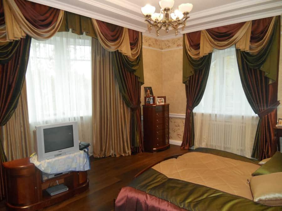 Фото штор 33: спальня