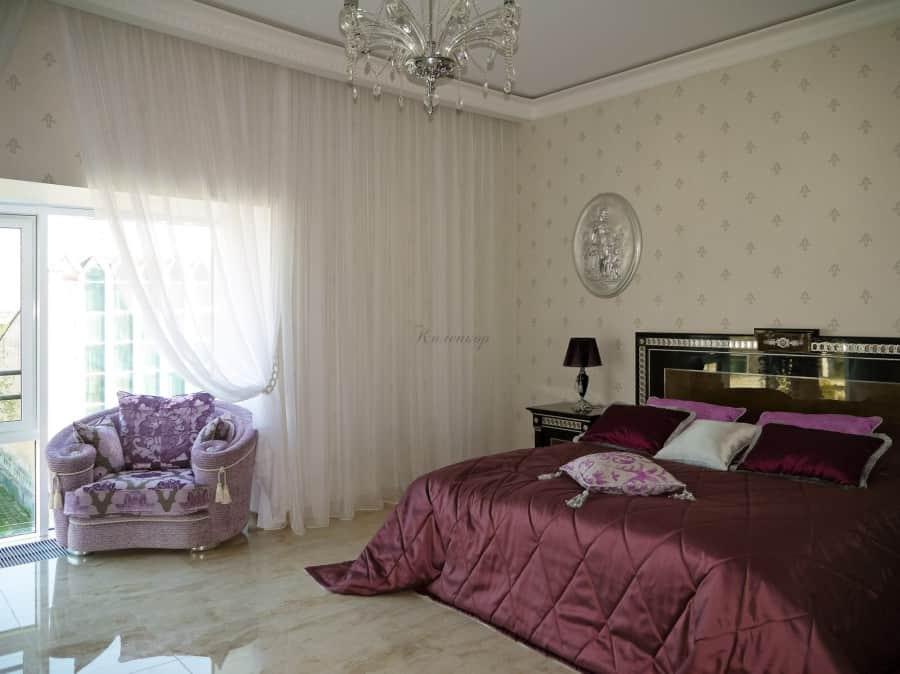 Фото штор 45: спальня