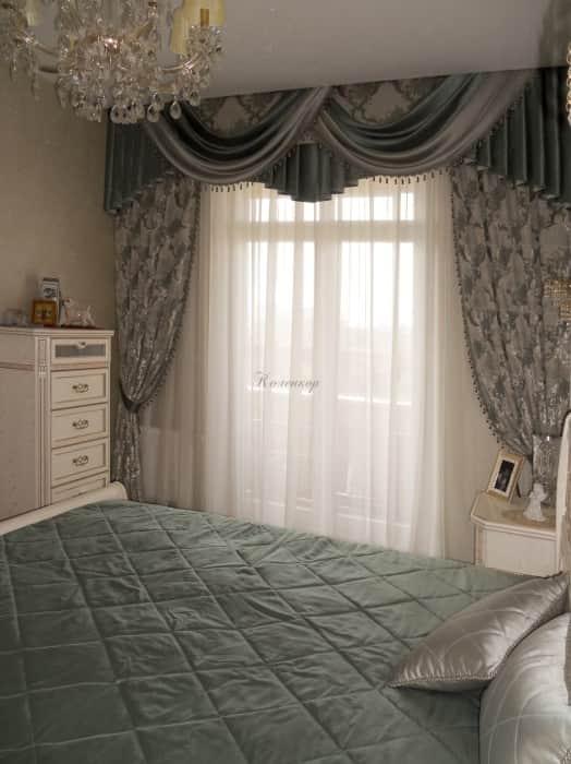 Фото штор 47: спальня