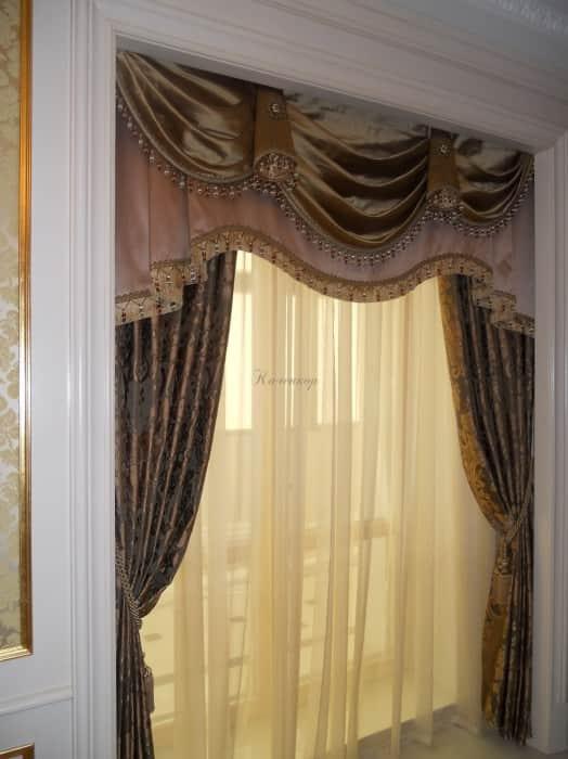 Фото штор 49: спальня